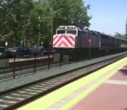 Caltrain – a busy part of downtown Menlo Park
