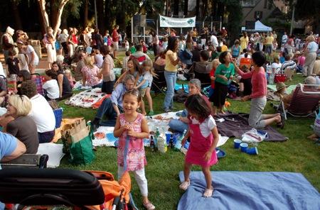 Salsa scene in Fremont Park