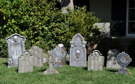 Post image for Tombstones take over Hillview Drive lawn