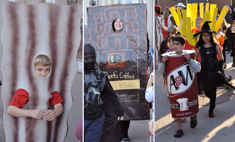 Oak Knoll School celebrates Halloween with a parade through the neighborhood