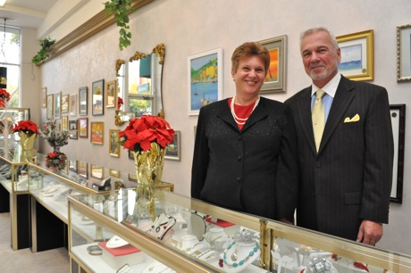 Mercedes and Charles Horvath - proprietors of The Jeweler in downtown Menlo Park