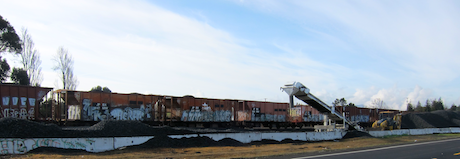 Railroad ballast - Menlo Park