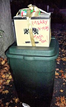 Post image for Holiday treats for Menlo's trash men