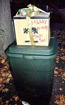Holiday treats for Menlo's trash men
