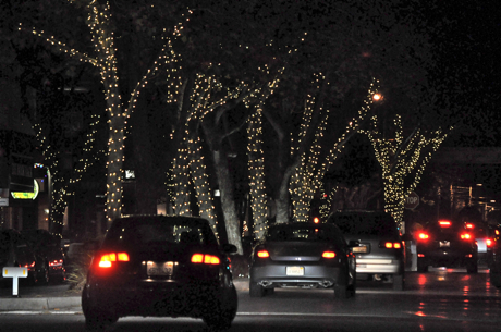 Holiday Lights on Santa Cruz Avenue in Downtown Menlo Park