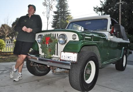 Garrett Gafke and his Kaiser  Jeepster