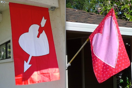 Menlo residents wave the flag for Valentines
