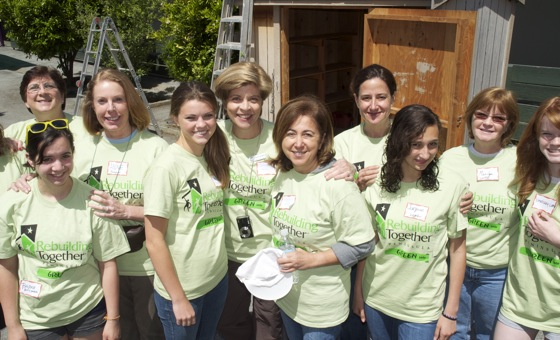 Moms and teen daughters, members of National Charity League Mid-Peninsula