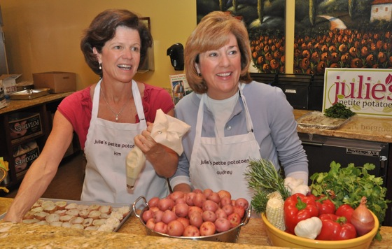 Kim Menninger and Audrey Foraker of Julie's Petite Potatoes