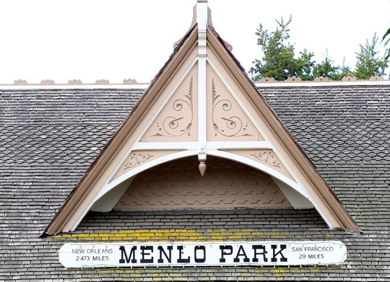 Menlo Park train station sign
