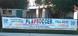 AYSO Soccer sign ups in Menlo Park, CA