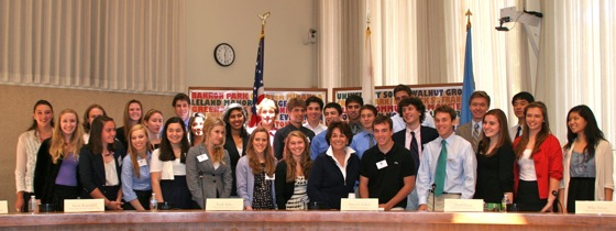 Congresswoman Anna Eshoo with Student Advisory Board