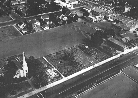 Menlo Park Presbyterian Church in downtown Menlo Park circa 1949