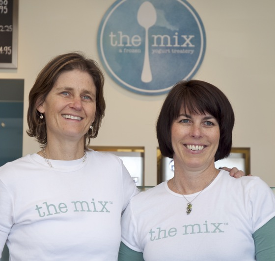 Susannah Albright and Jamie Schein of The Mix Yogurt in Menlo Park