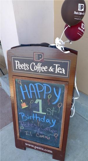 Happy Birthday (new) Peet's!
