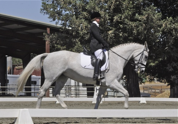 Kristin Cook on French Twist at dressage competition at Webb Ranch in Menlo Park