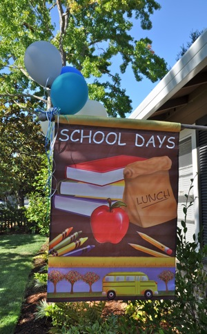 School Days flag in Menlo Park frontyard
