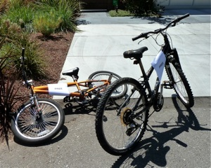 Free bikes on San Mateo Dr. in Menlo Park