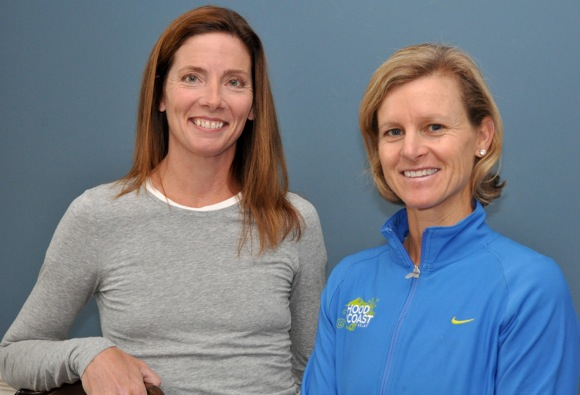 Sally Osterberg and Katie Ferguson, founders of Kids 4 Sports