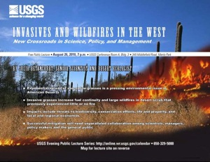 USGS August flyer on invasive desert grasses