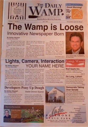 Inaugural issue of The Daily Wamp