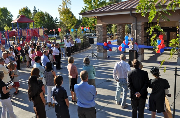 Ribbon cutting ceremony at Oak Knoll School in Menlo Park