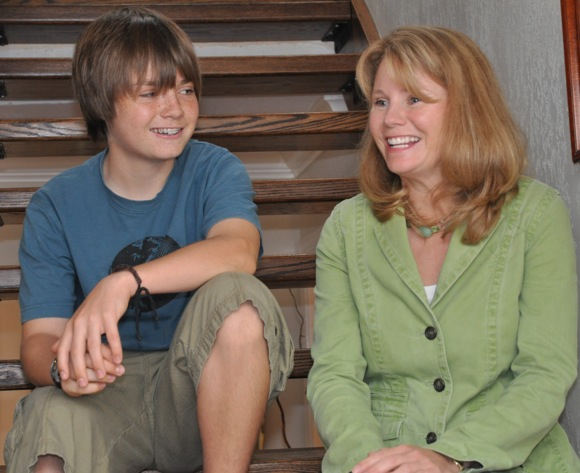 Jill Olson and son Andrew
