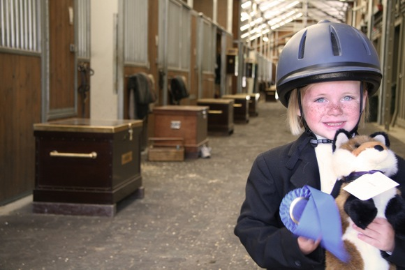Young winner, 40th Menlo Charity Horse Show