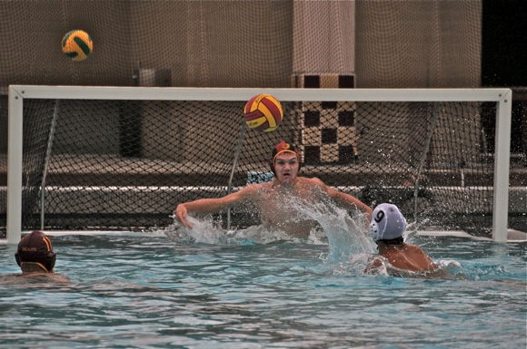 M-A water polo goalie Alex Gow
