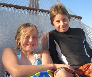 Kids on sailing voyage