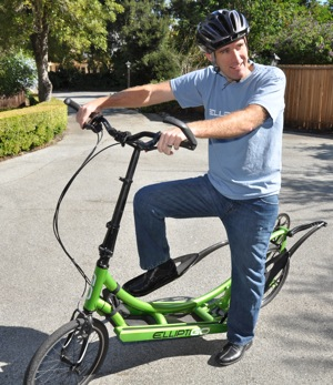 Live from the storage shed – ElliptiGO is good to go