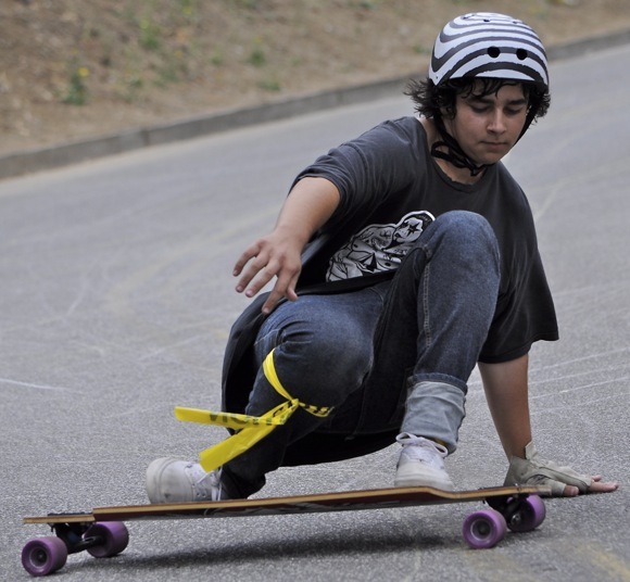 Skater participating in Menlo Park Slide Jam