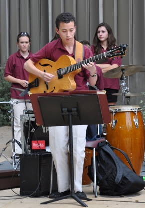 Guitarist in M-A's Advanced Jazz Band