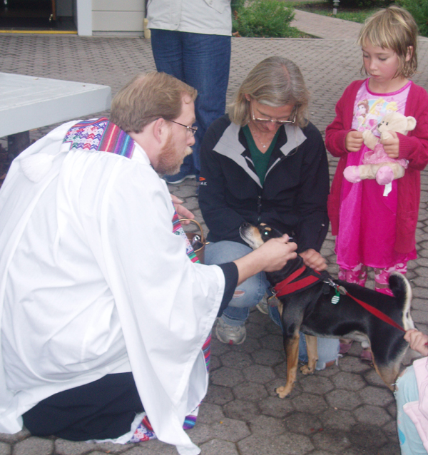 Spotted: Blessing of the Animals at Trinity Church
