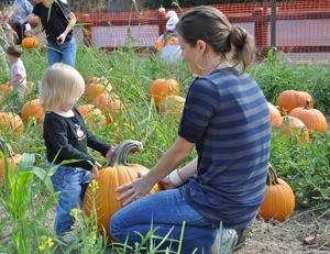 Meet the Green Warty at Webb Ranch's Pumpkin Patch