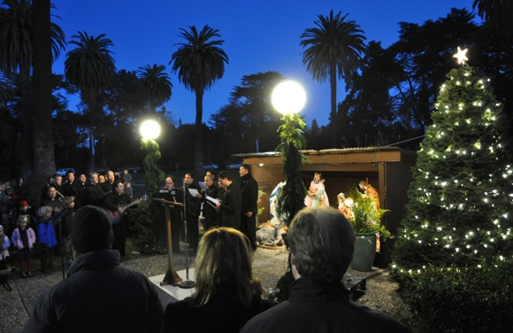 Tree lighting ceremony at St. Patrick's Seminary