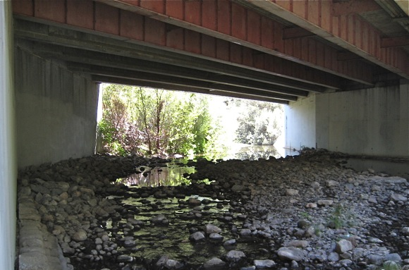 Under Menlo: Sand Hill Road bridge over San Francisquito Creek