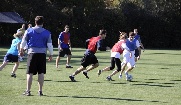 Whelan family Thanksgiving soccer game