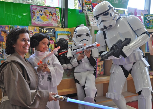Star Wars enthusiasts at Keplers in Menlo Park