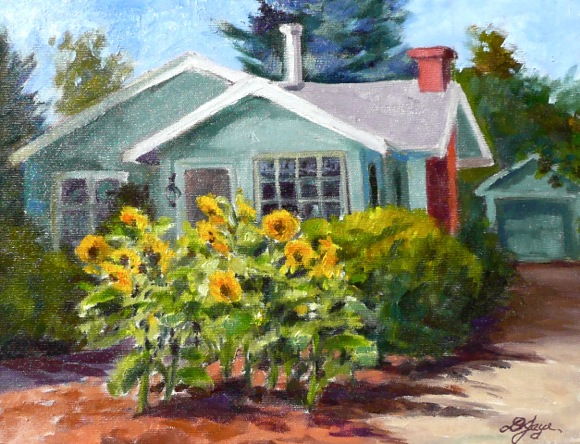 Brians Sunflowers by Diana Jaye
