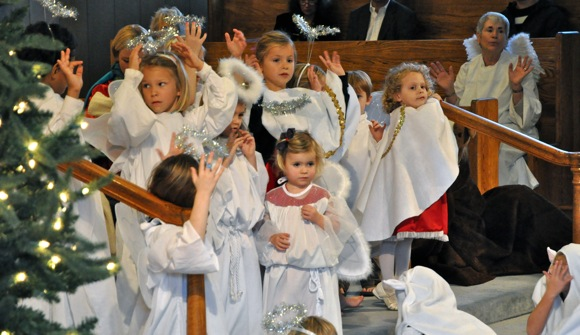 Christmas pageant at Trinty Church in Menlo Park