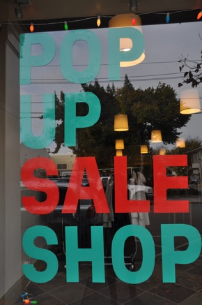 Pop Up Store in downtown Menlo Park