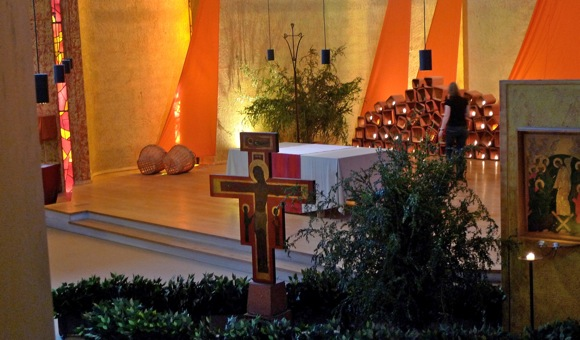 Inside the Church of the Reconciliation at Taize