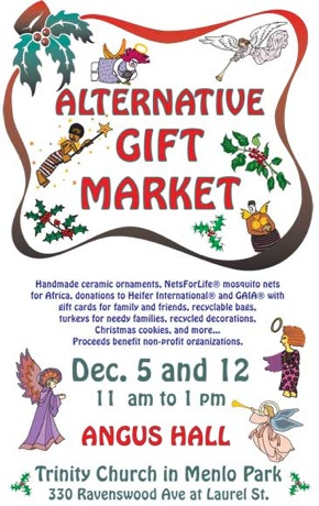Alternative gift market poster Trinity Church