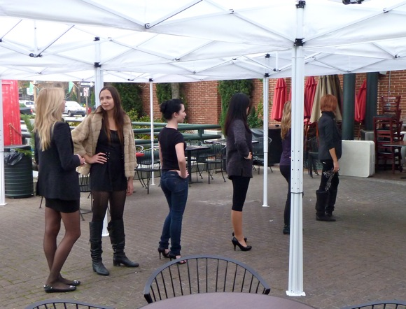 models rehearsing at BBC