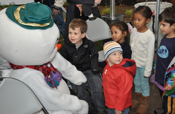 Santa, Frosty, Rudolph – all on one Menlo Park street today!