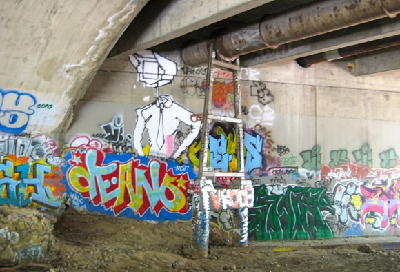under the El Camino Real bridge over San Francisquito Creek