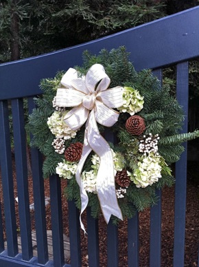 wreath spotted at Finishing Touches home tour
