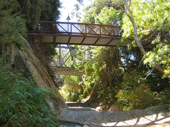 Under Menlo: Ira E. Bonde bike/pedestrian bridge