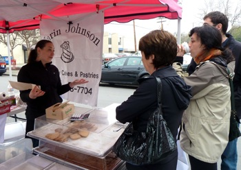Karin Johnson specialty cakes and pastries at Menlo Park Farmers Market